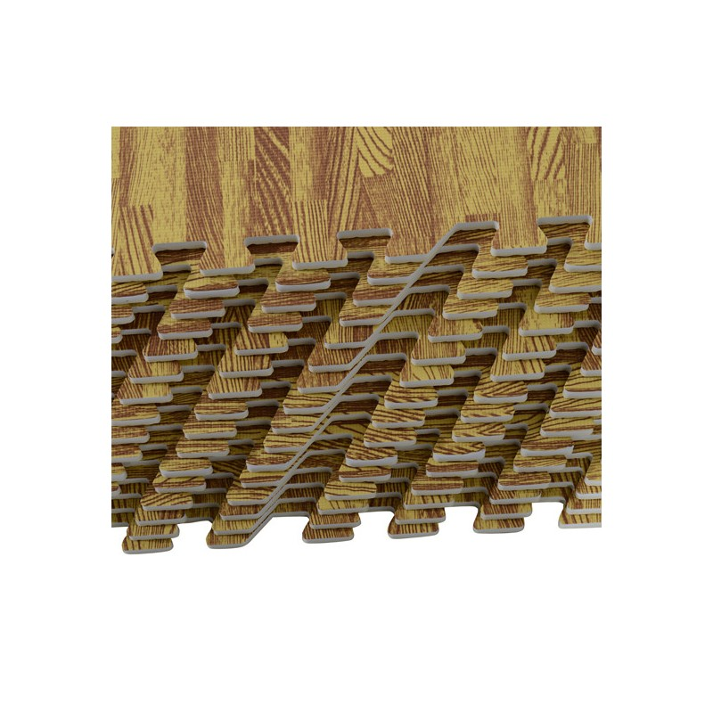 6e9136e5635 Alfombra Puzzle para Niños o Gimnasio– Color madera – Goma Espuma EVA – 60  x 60 x 1cm