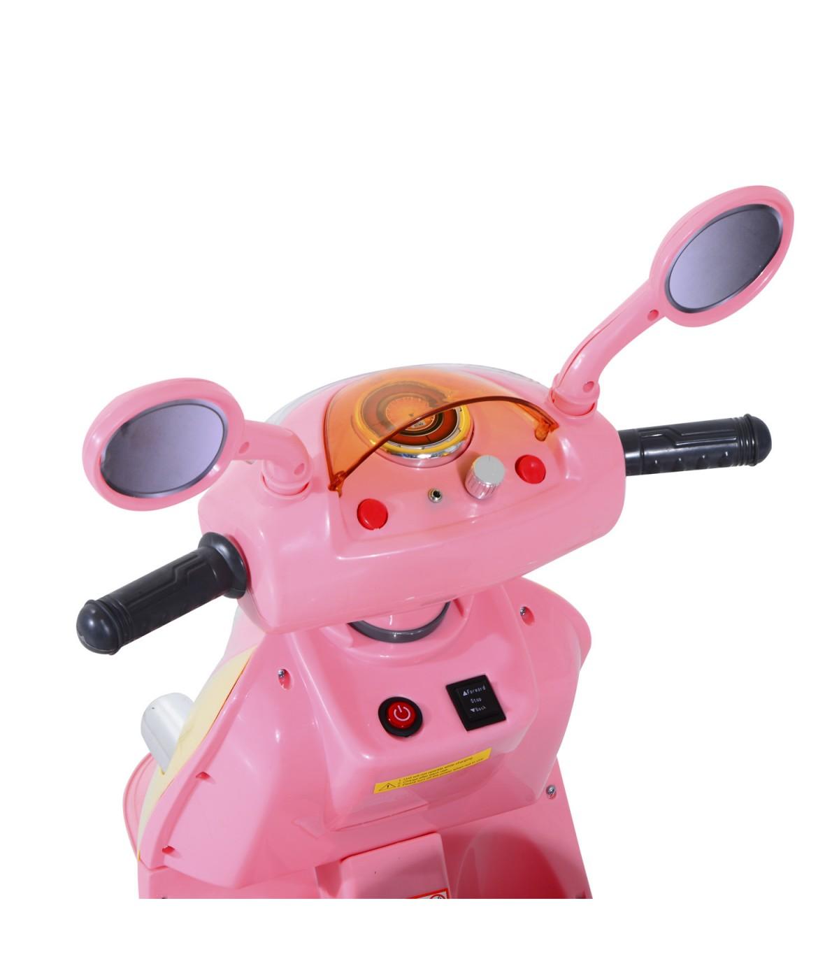 3fd3a4ceb5a8e HomCom® Coche Triciclo Moto Eléctrica Infantil Correpasillos a Batería  Niños 3-8 años 108x51x75cm Rosa