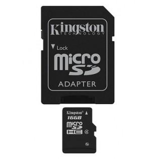 TARJETA DE MEMORIA MICRO SDHC 16GB KINGSTON CL 4 + ADAPT