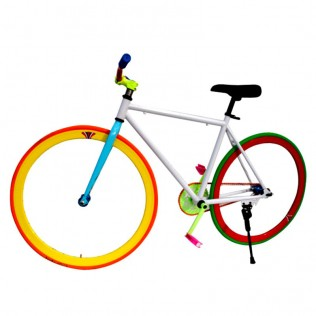 000l montaje bicicleta personalizada fixie talla l