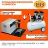 Kit máquina micropercusión y compresor