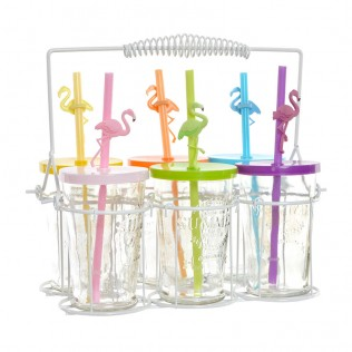 Vaso set 6 cristal 26,5x16x24 000 ml. flamenco