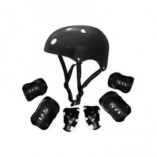Kit casco y protecciones para niños Kr-006