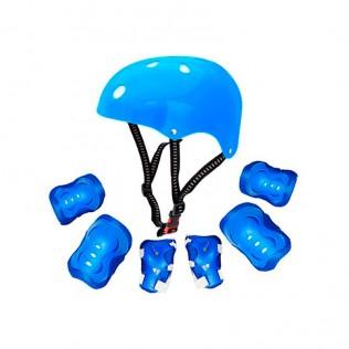 Kit casco y protecciones kr-006
