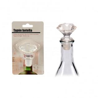Tapón botella diamante transparente
