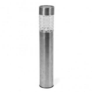 Farol solar metal - cristal 1led 49.5x6cm