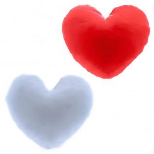 Cojín con forma de corazon 19x19cm para sublimación liquidación