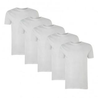 Pack 5 camisetas algodón blanco