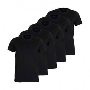 Pack 5 camisetas algodón negro