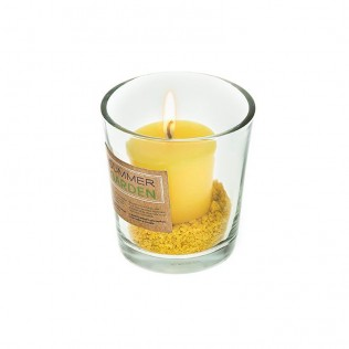 Set vela citronella con vaso summer
