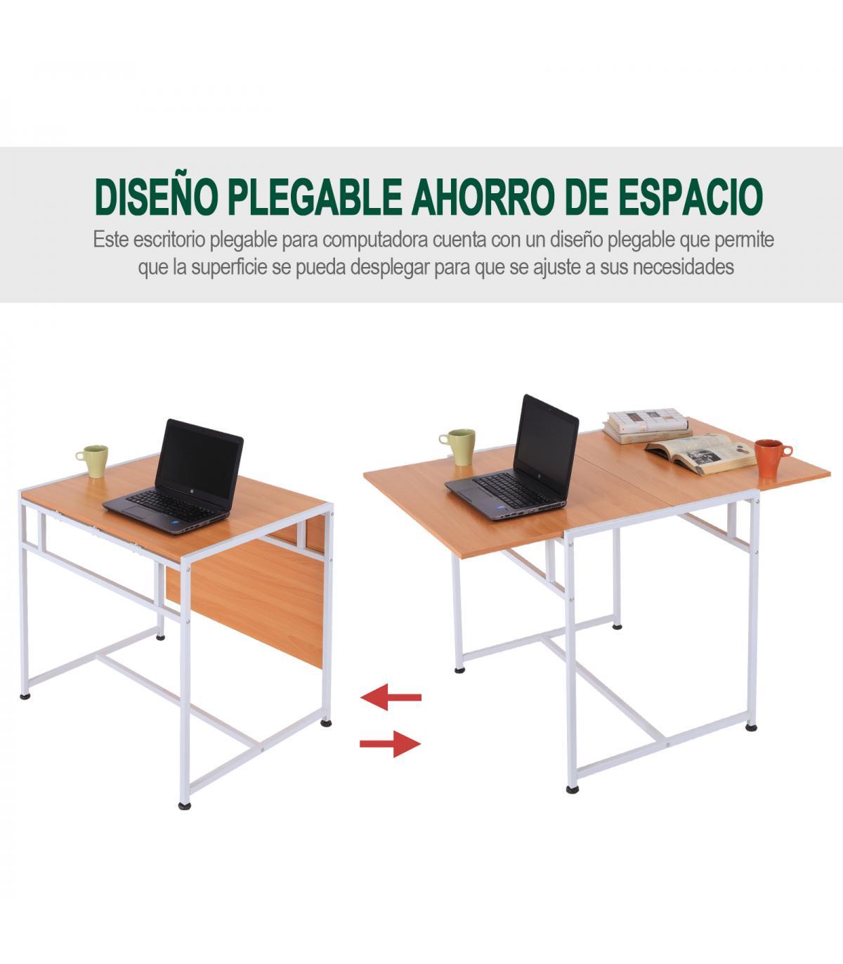 Ordenador Y Homcom® Ajustable Mesa Pie Plegable Comedor Acero H2YeEIWD9b