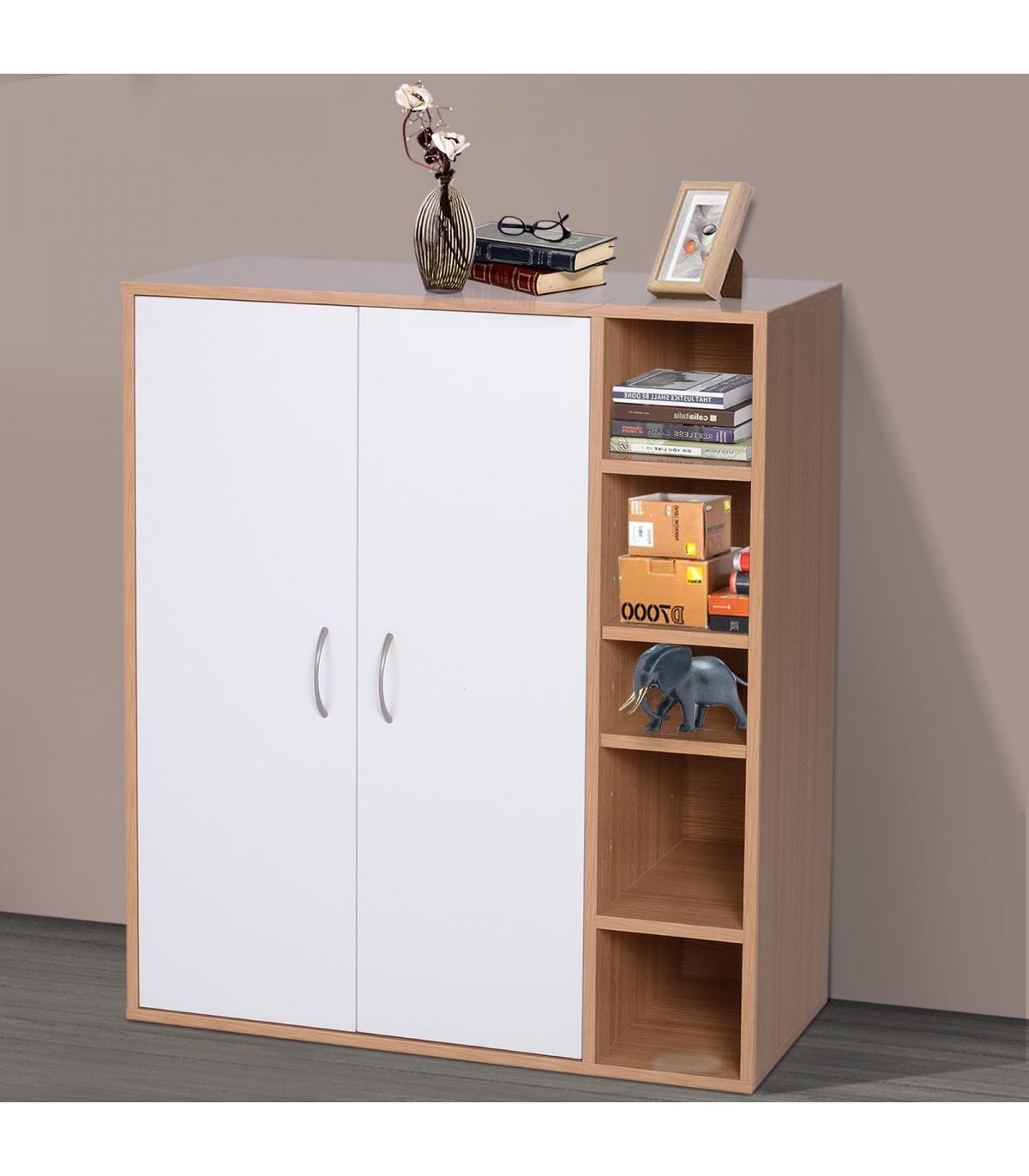 HomCom® Armario Gabinete Consola Armario Bajo Mueble Organizador de ...