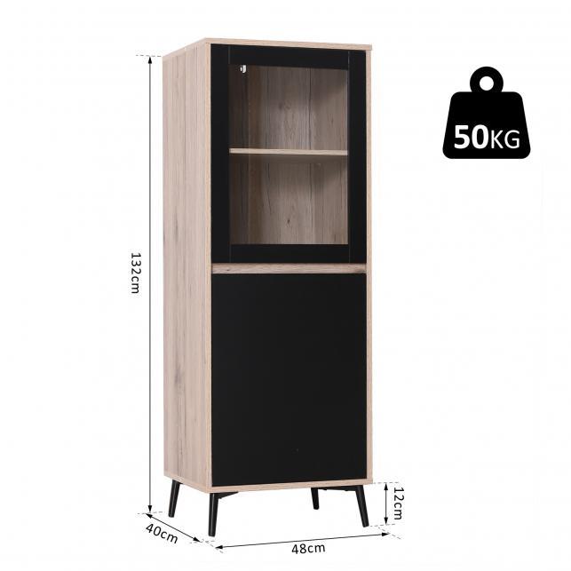 Homcom® armario gabinete consola mueble aparador organizador de almacenaje  multiusos de cocina comedor salón 48x40x132cm