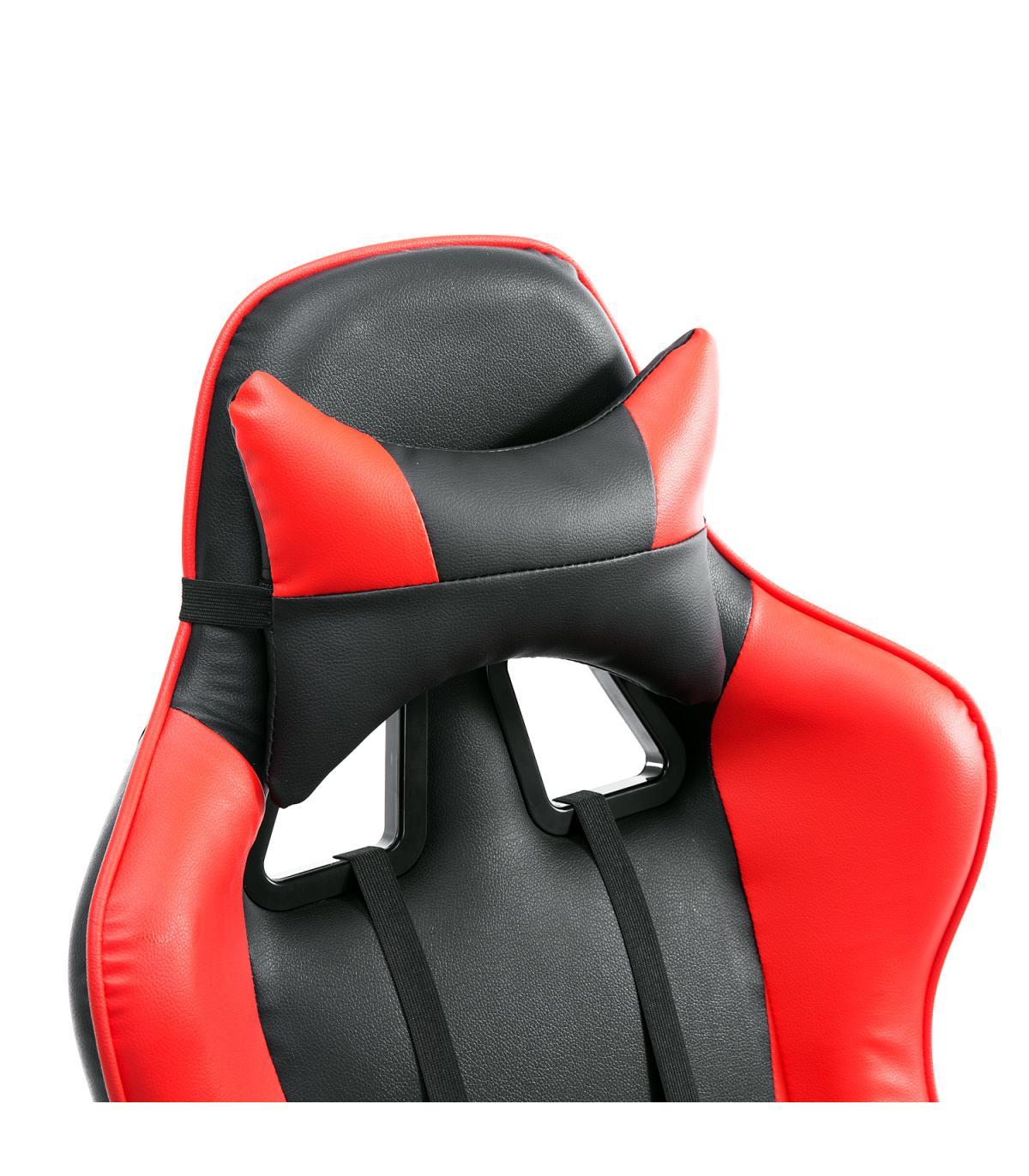 Silla De Negro Y Rojo Oficina Homcom® Elevable Giratoria mnv80Nw