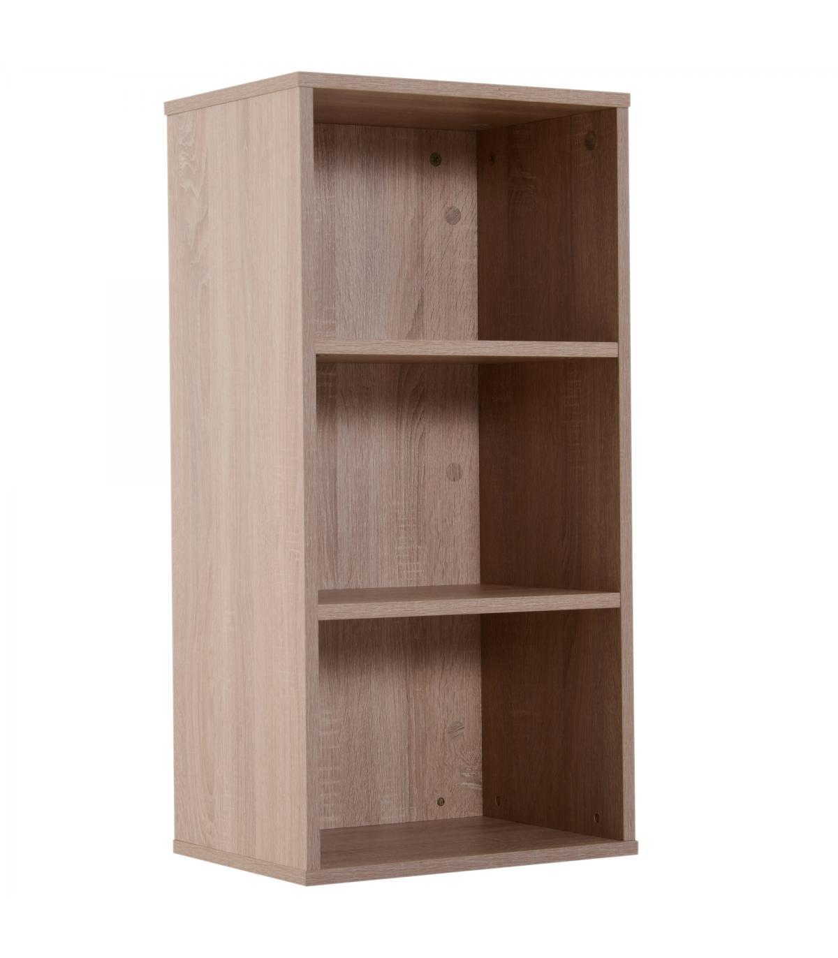 6e0295424 HomCom® Estantería para Libros Librería de Madera 3 Estantes Biblioteca Organizador  para Hogar y Oficina 40x29x106cm Color Mader