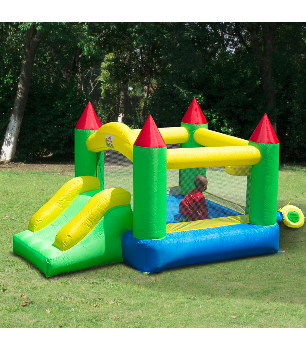 Homcom Tela Para Niños Color Hinchable De 420d Castillo Nylon 0Ok8wnP
