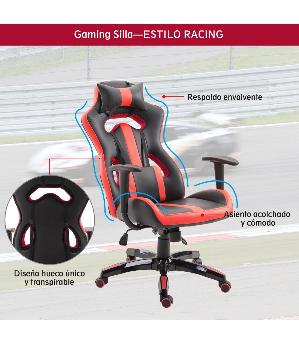 Ergonómica Homcom Escritorio Oficina Silla Gaming Estilo Y De Racing IDHEW29Y