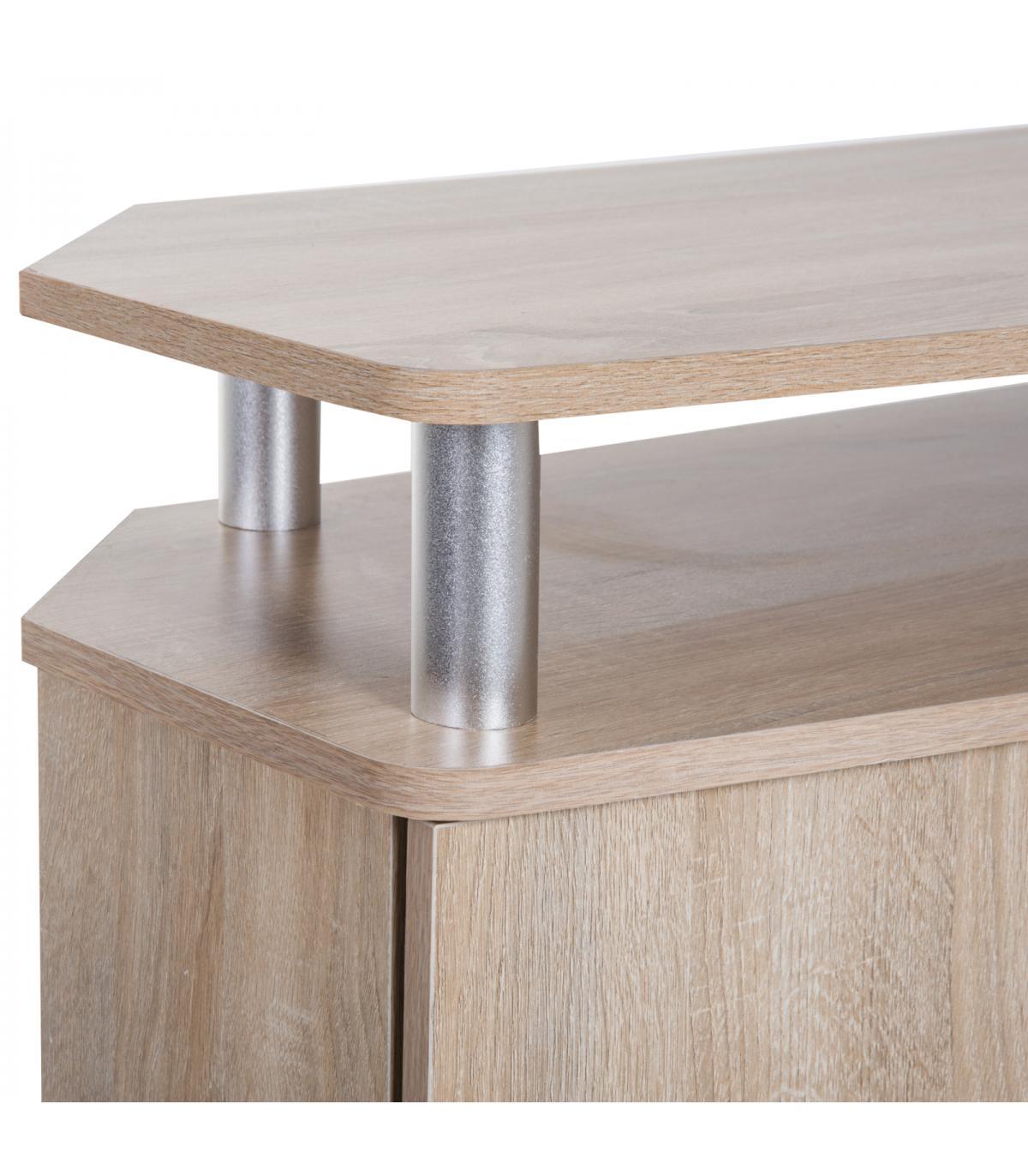HomCom® Mesa Soporte de TV Mueble de Comedor Salón Moderno Armario 2 ...