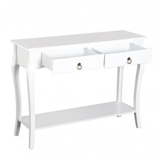 Homcom® mesa consola aparador salón comedor mueble recibidor con cajones y  estante 100x33x76cm