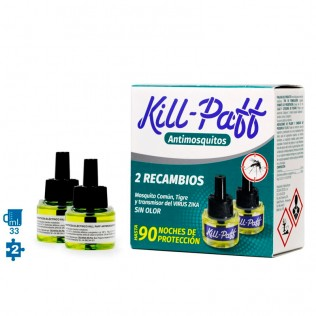 Recambios difusor antimosquitos dos unidades 33 ml