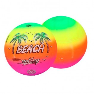 Pelota 21 cm beach volley fluor
