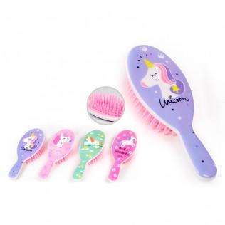 Peine cepillo de pelo infantil unicornio surtido