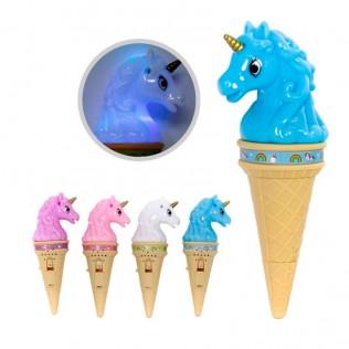Unicornio helado luz + sonido surtido