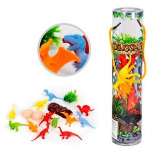 Juguete dinosaurios con accesorios 16 piezas surtido