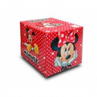 Cubo de pañuelos de Minnie 20 x 20 cm