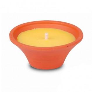 Vela maceta citronella 18 x 7,5 cm