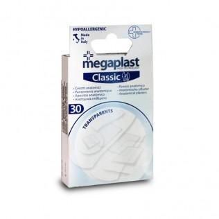 Apósitos clásicos transparentes Megaplast 30 ud