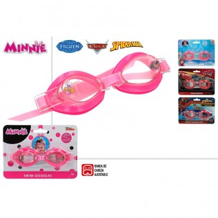 Gafas natación microlens (Spiderman, Cars, Frozen, Minnie)