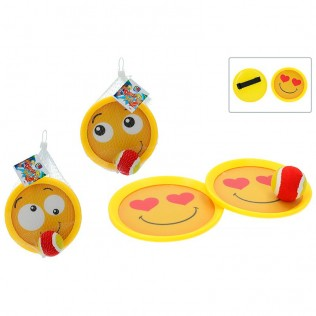 JUEGO CATCH BALL 185 MM - EMOTICONOS