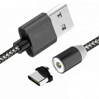 Cable USB magnético para smartphone apple y android