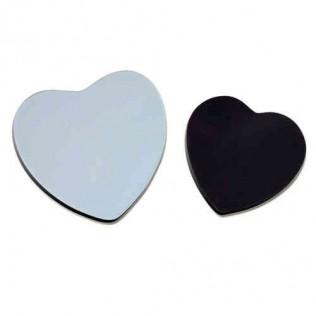Imán de ceramica forma de corazón para sublimación p10