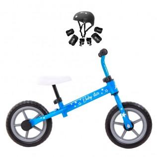 Bicicleta de iniciación Baby Star sin pedales azul