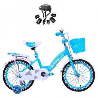 Bicicleta para niños con ruedines y cesta Sunday