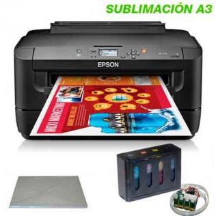 Impresora sublimación digital transfer epson a3+ con montaje