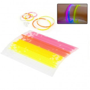 Pack 10 pulseras luminosas 20 cm