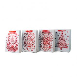 Bolsa Regalo Navidad Pequeña Rojo 24x18 cm