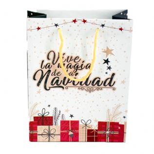 Bolsa Regalo Navidad Grande 41x33x9 cm