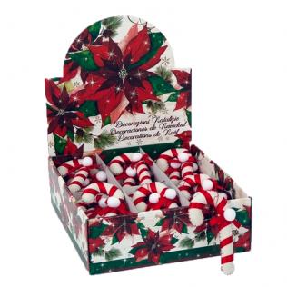 Decoración Navidad Bastoncito Fieltro Blanco