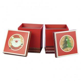 Caja Regalo Navidad Cartón 20x22 cm