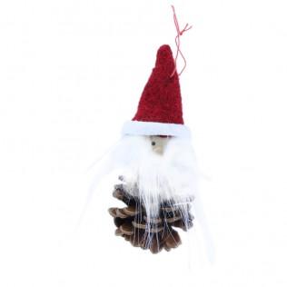 Piña con cabeza de Papá Noel 10 cm