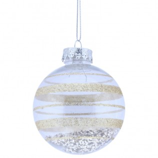 Bola Navidad Transparente Deko Oro 8 cm