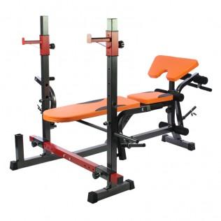 Banco de musculación multiusos orange
