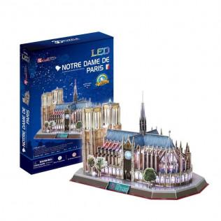 Puzzle 3D Notre Dame con Luces LED