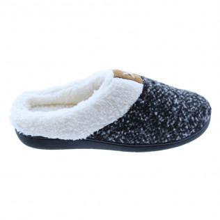 Zapatillas de estar por casa antideslizantes para invierno   Con memory foam negra
