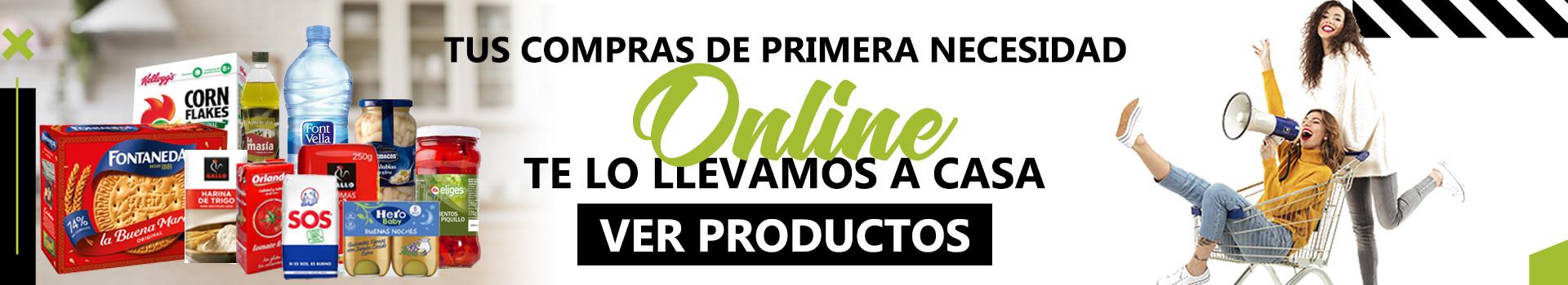 ¡TUS PRODUCTOS DE PRIMERA NECESIDAD DIRECTAMENTE EN CASA!